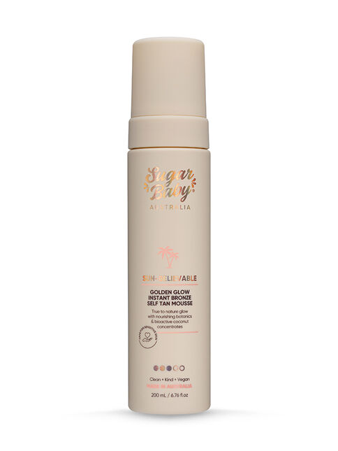 SUN-BELIEVABLE Golden Glow Instant Bronze Self Tanning Mousse